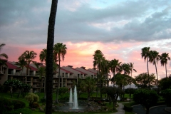 View a beautiful sunset from our lanai