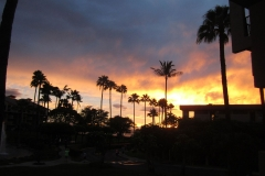 A beautiful sunset seen from our lani