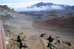 Haleakala Crater Cindercones, rare plants, native birds, and hiking trails