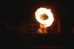 World famous fire dancer at Wailea finest Luau