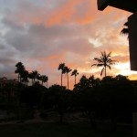 Kamaole Sands Sunset as seen from lanai of condo 1-204