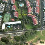 Kamaole Sands Aerial View showing our condo 1-204 location and beach at the bottom of photo